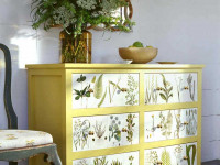 Декупаж мебели: интересные варианты оформления интерьера при помощи обновления мебели (120 фото)