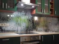 Фартук для кухни из стекла — красивые и оригинальные варианты оформления кухни при помощи стекла