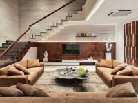 Гостиная с лестницей — особенности размещения, варианты оформления и советы как сделать красивый, стильный интерьер