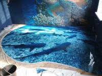 Наливной пол в ванной комнате: красивые идеи дизайна и особенности применения различных вариантов оформления