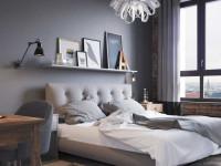 Серые обои в спальне — интересные проекты и варианты использования серого в дизайне интерьера (155 реальных фото)