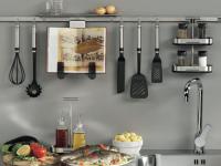 Система рейлингов для кухни — самые оригинальные модели и особенности их применения