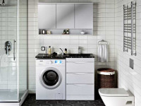 Стиральная машинка в ванной комнате — варианты размещения и интересные решения по применению в дизайне интерьера
