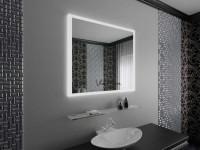Зеркало в ванную комнату — виды, формы, декор, цвет, варианты с рисунком и подсветкой (110 фото)